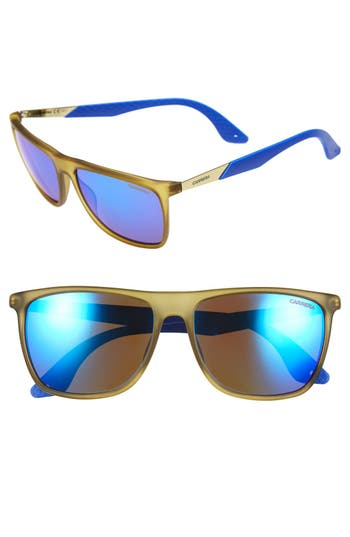 Carrera Eyewear 5m Retro Sunglasses - Matte Yellow/ Blue Multilayer