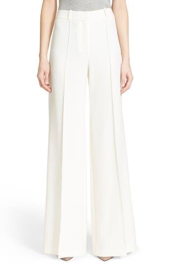 Women's Milly 'Hayden' Wide Leg Trousers, Size 2 - White