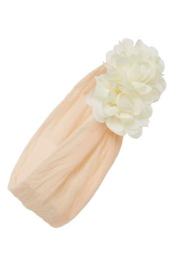Baby Bling Chiffon Ruffle Headband, Size One Size - Coral