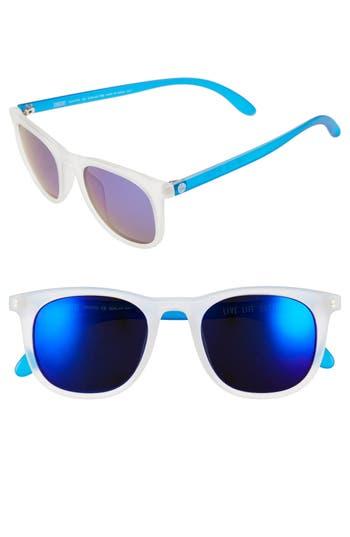 Women's Sunski 'Seacliff' 49Mm Polarized Retro Sunglasses - Frosted/ Blue