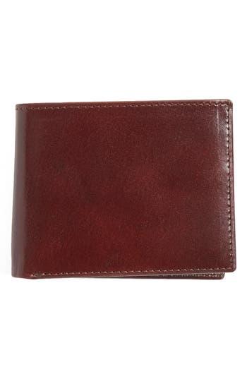 Men's Johnston & Murphy Flip Billfold Leather Wallet - Burgundy