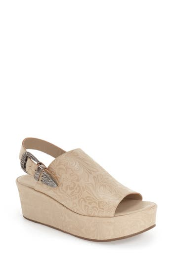 Matisse Embossed Slingback Platform Sandal