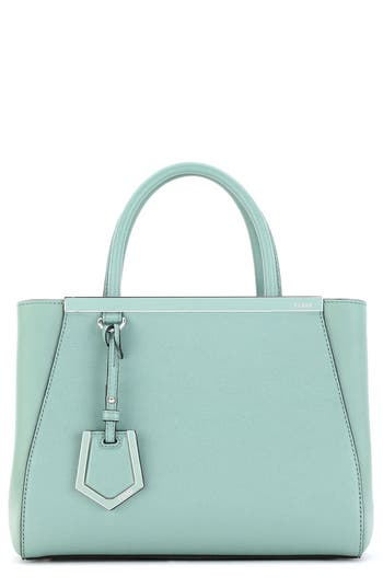 Fendi 'Petite 2Jours Elite' Leather Shopper - Blue