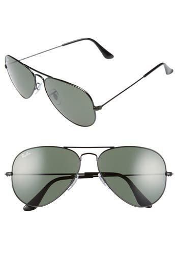 Ray-Ban Original Aviator 5m Sunglasses - Black/ Grey Green