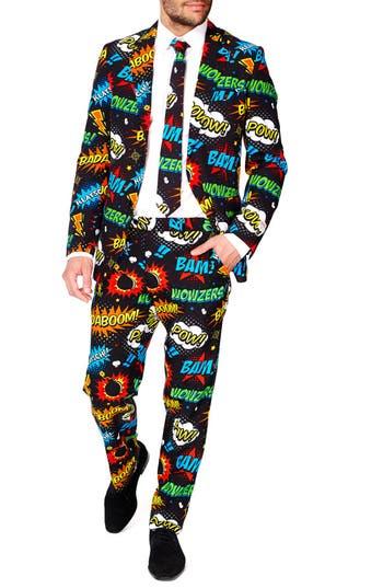 Men's Opposuits 'Badaboom' Trim Fit Two-Piece Suit With Tie