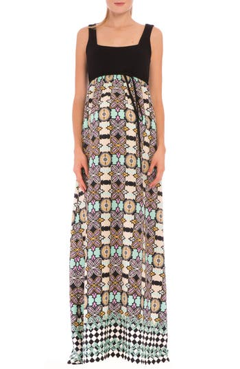 Women's Olian 'Sofia' Empire Waist Maternity Maxi Dress