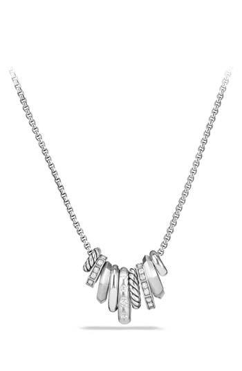 Women's David Yurman 'Stax' Small Pendant Necklace With Diamonds