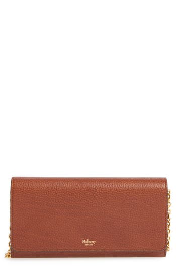 Mulberry 'Continental - Classic' Convertible Leather Clutch -