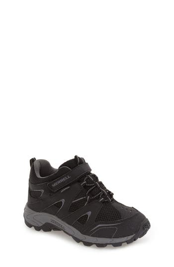 Boys Merrell Hilltop Waterproof Sneaker Size 7 M  Black