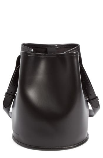 Creatures Of Comfort Small Leather Bucket Bag - Black