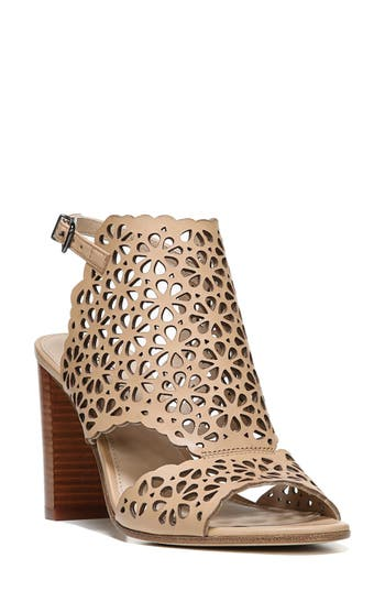 Via Spiga Garnet Perforated Ankle Strap Sandal, Beige