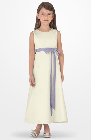 Girls Us Angels Sleeveless Satin Dress Size 6  Purple