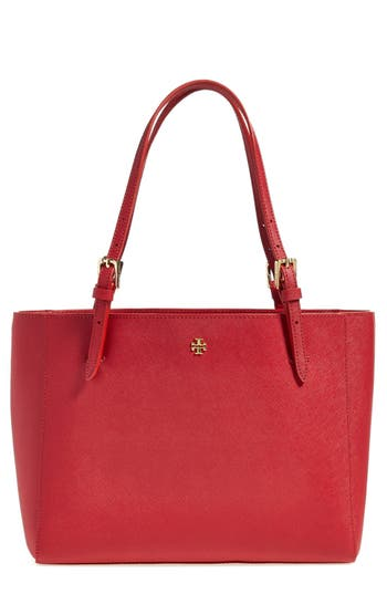 Tory Burch 'Small York' Saffiano Leather Buckle Tote -