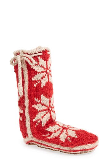 Women's Woolrich 'Chalet' Socks, Size Small - Red