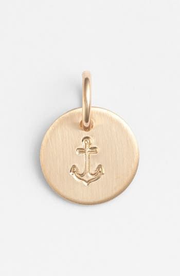 Women's Nashelle Anchor Mini Stamp Charm