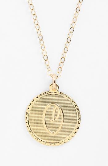 Moon and Lola 'Dalton' Initial Pendant Necklace