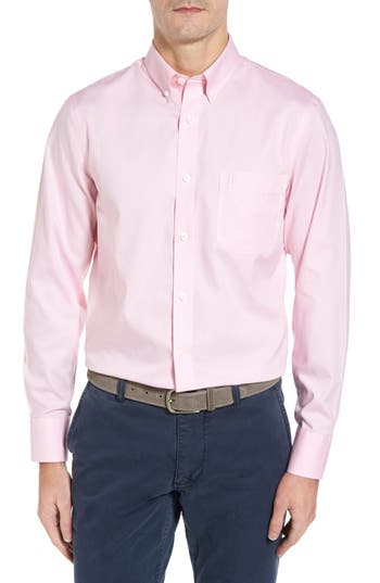 Big & Tall Nordstrom Shop Smartcare(TM) Oxford Sport Shirt, Pink