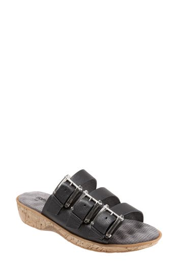 Softwalk Barts Slide Sandal, Black