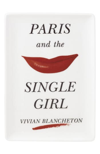 Kate Spade New York Paris & The Single Girl Porcelain Tray