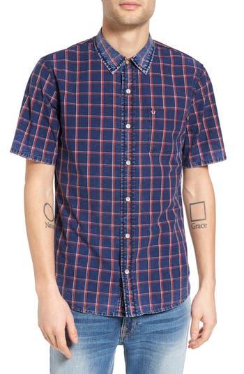 Men's True Religion Brand Jeans Plaid Shirt