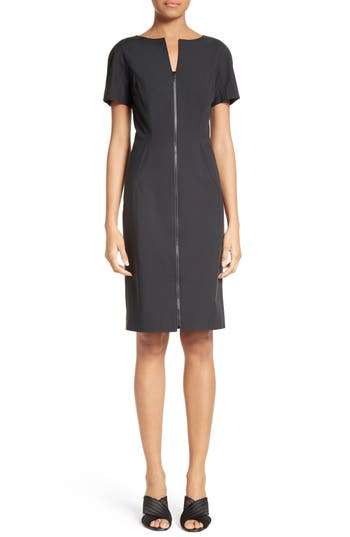 Lafayette 148 New York Deja Zip Sheath Dress