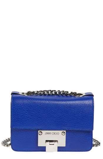 Jimmy Choo Mini Rebel Leather Crossbody Bag - Blue