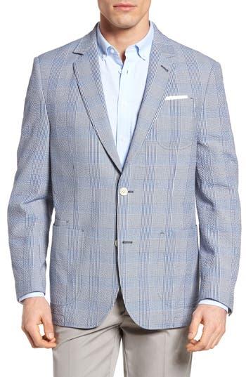 Flynt Babbitt Plaid Seersucker Sport Coat