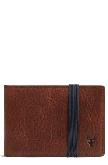 Trask Leather Money Clip Wallet -