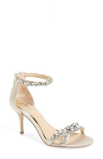 Jewel Badgley Mischka Caroline Embellished Sandal