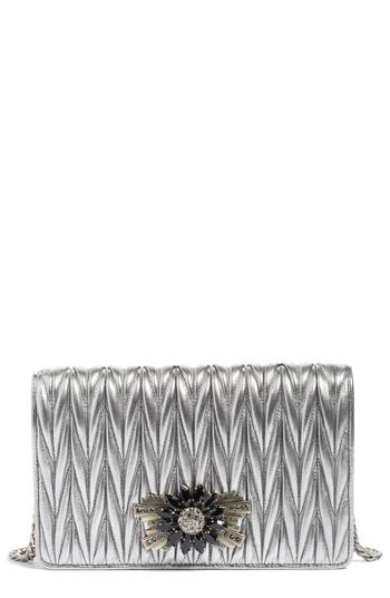 Miu Miu Delice Matelasse Leather Wallet On A Chain -