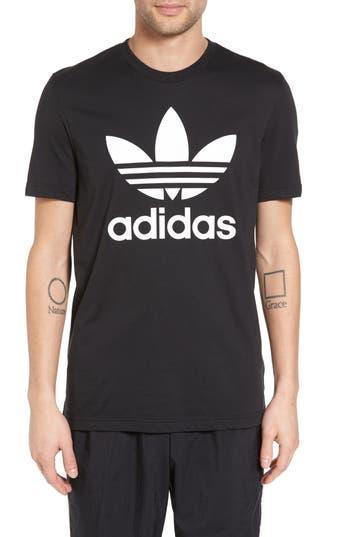 Adidas Originals Trefoil Graphic T-Shirt, Black