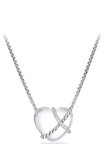 Women's David Yurman Le Petite Coeur Sculpted Heart Chain Necklace With Diamonds
