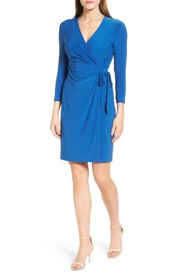 Women's Anne Klein Stretch Jersey Faux Wrap Dress
