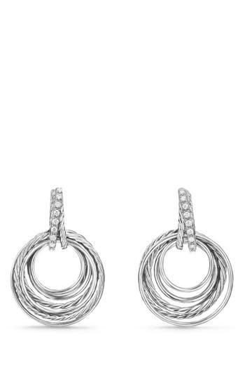 Women's David Yurman Crossover Drop Earrings With Diamonds