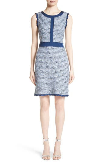 St. John Collection Kiara Tweed A-Line Dress