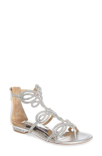 Badgley Mischka Tempe Embellished Sandal, Metallic