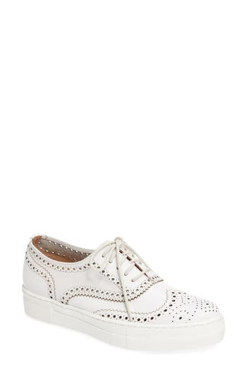 Shellys London Kimmie Perforated Platform Sneaker White