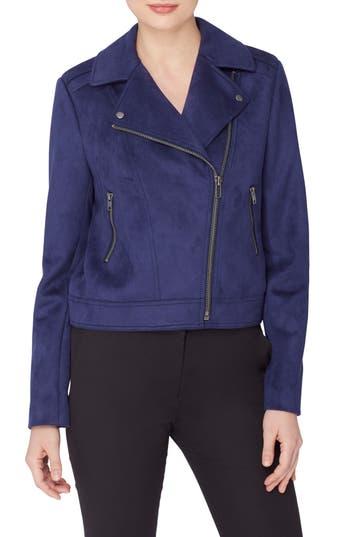 Women's Catherine Catherine Malandrino Faux Suede Moto Jacket