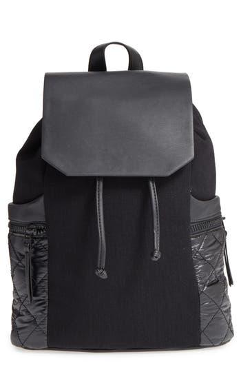 Phase 3 Denim & Faux Leather Backpack -
