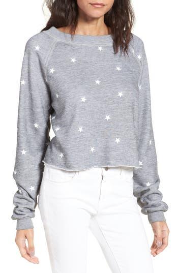 Women's Wildfox Football Star Monte Crop Sweatshirt