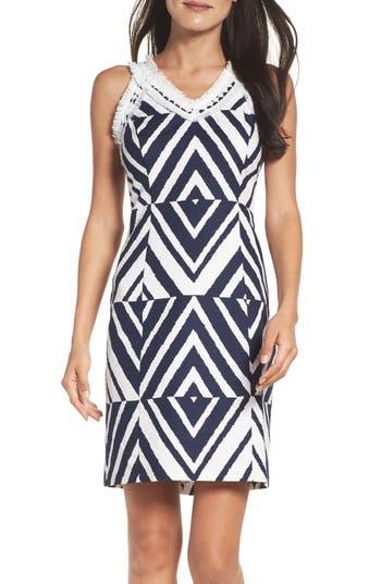 Taylor Dresses Texture Sheath Dress