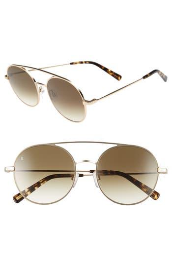 Women's Raen Scripps 55Mm Round Sunglasses - Gold/ Brindle