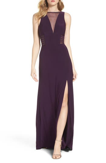 Morgan & Co. Illusion Gown, /4 - Purple