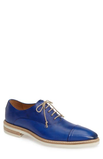 Mezlan Curie Cap Toe Oxford, Blue