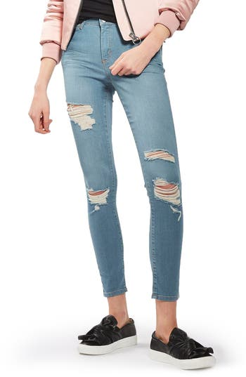 Women's Topshop Leigh Super Ripped Skinny Jeans