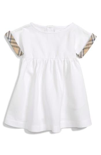 Infant Girls Burberry Jen Check Cuff Dress