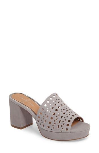 Women's Linea Paolo Ofra Block Heel Mule, Size 6 M - Grey