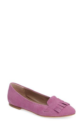 Agl Fringe Moccasin Flat - Pink