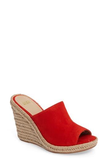 Johnston & Murphy Myrah Wedge Slide Sandal, Red
