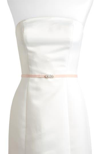 Jenny Yoo Marsey Jeweled Velvet Belt